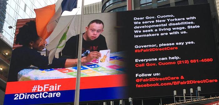 bFair2DirectCare at NYS CapitolbFair2DirectCare Billboard in Times Square